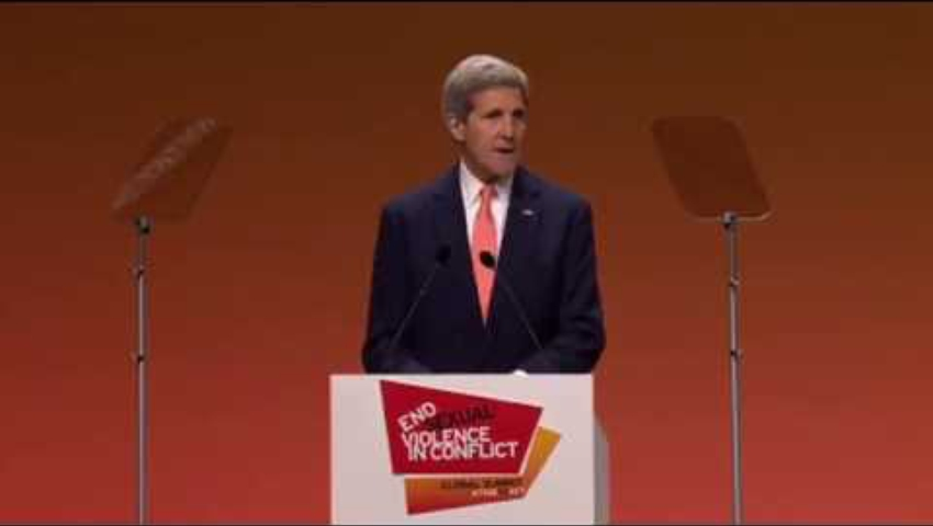 John Kerry - End Sexual Violence in Conflict